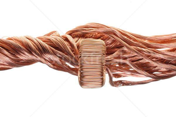 Erő fogyasztás ipar réz vonal építkezés Stock fotó © Arezzoni