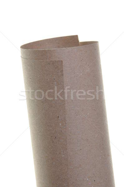 Papel rodar aislado blanco pergamino hoja Foto stock © Arezzoni