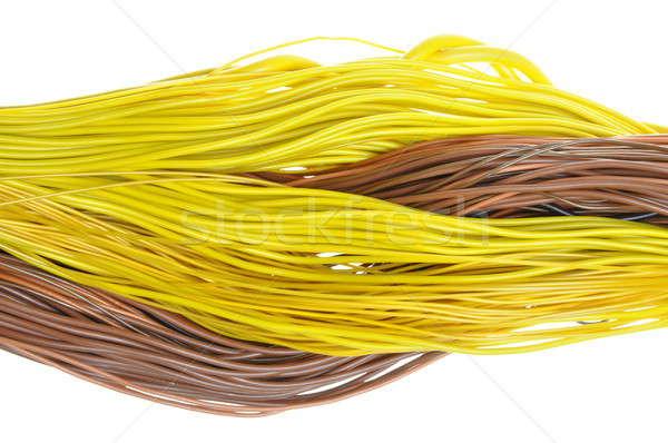 Foto stock: Colorido · rede · cabos · isolado · branco · textura