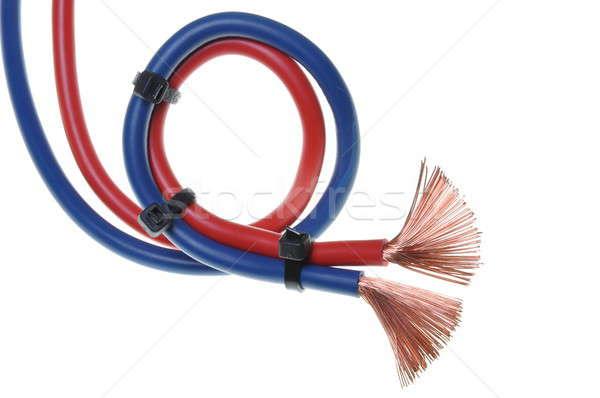 青 赤 コード 中古 電気 技術 ストックフォト © Arezzoni