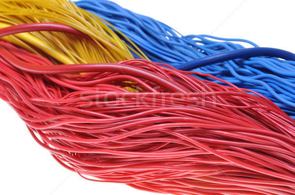 Bundles of colorful network cables  Stock photo © Arezzoni