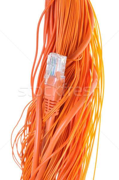 Naranja cables red plug resumen ordenador Foto stock © Arezzoni