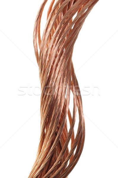 Cobre alambre energía industria diseno tecnología Foto stock © Arezzoni