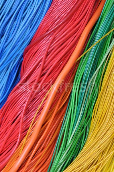 Cables global telecomunicaciones redes resumen Foto stock © Arezzoni