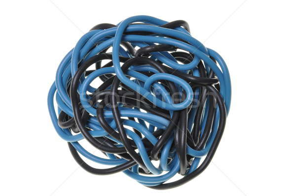 Blue and black ball of cord Stock photo © Arezzoni