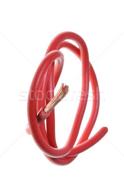 красный медь электрические кабеля источник питания технологий Сток-фото © Arezzoni