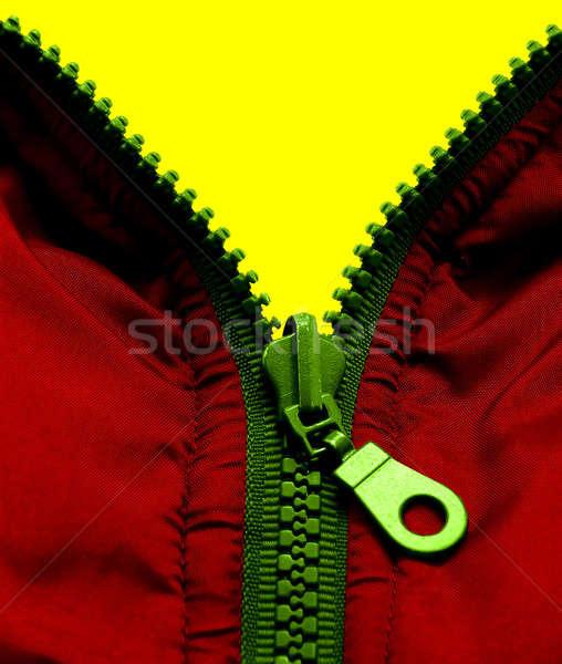 Fermuar üç renkler sarı kırmızı yeşil Stok fotoğraf © Ariusz