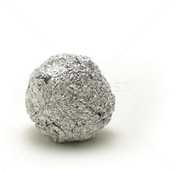 Top soyut Metal beyaz çöp gümüş Stok fotoğraf © Ariusz