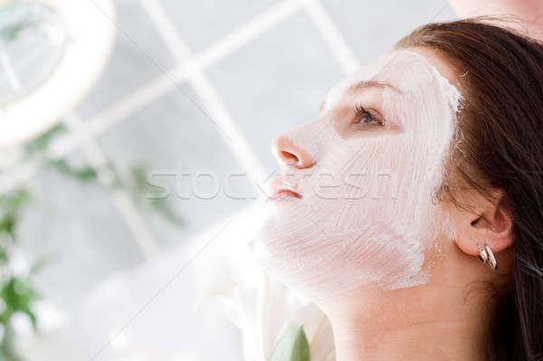 Stok fotoğraf: Maske · rahatlatıcı · güzellik · salonu · kadın · kadın · güzellik