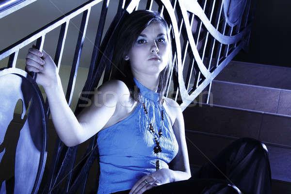Stok fotoğraf: Model · portre · güzel · kadın · göz · yüz · kadın