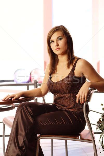 Model 26 portre güzel kadın göz yüz Stok fotoğraf © Ariusz