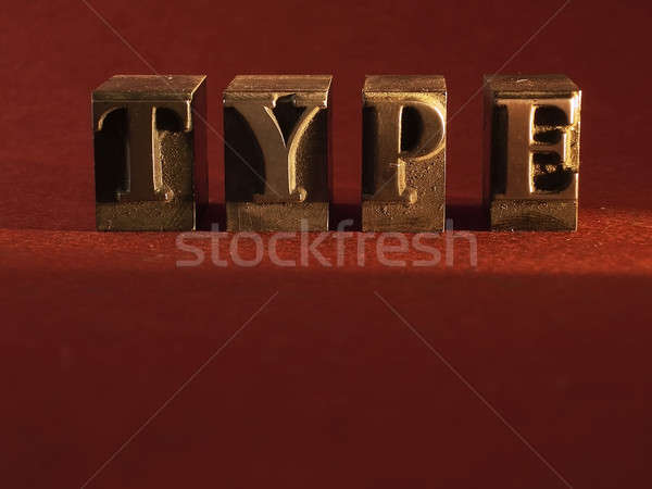 type Stock photo © Ariusz