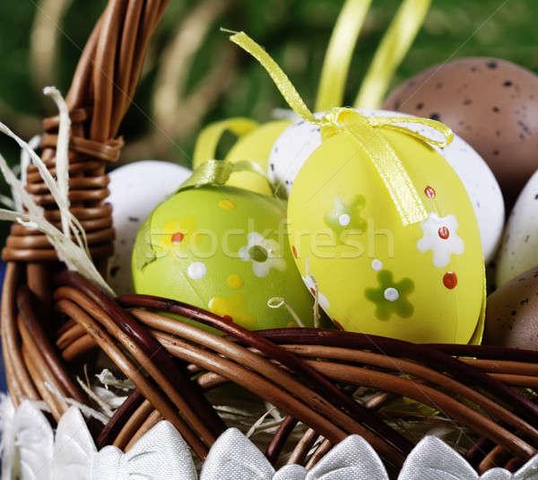 Renkli easter egg el boyalı Stok fotoğraf © Ariusz