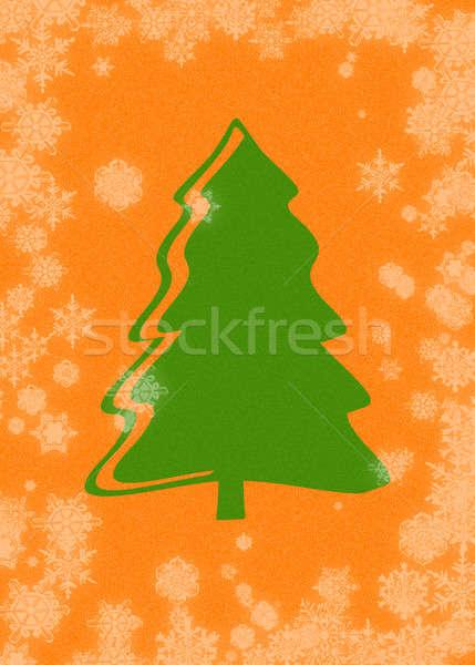 Noel noel ağacı arka plan tatil kardan adam Stok fotoğraf © Ariusz