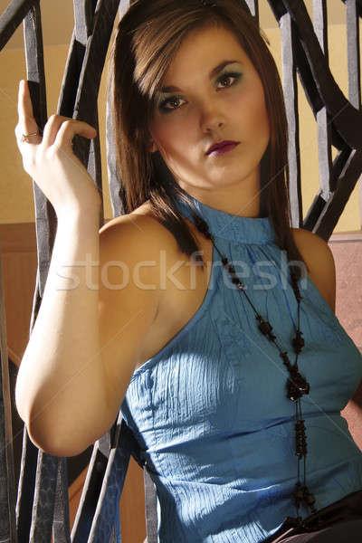 Stok fotoğraf: Model · 22 · portre · güzel · kadın · göz · yüz
