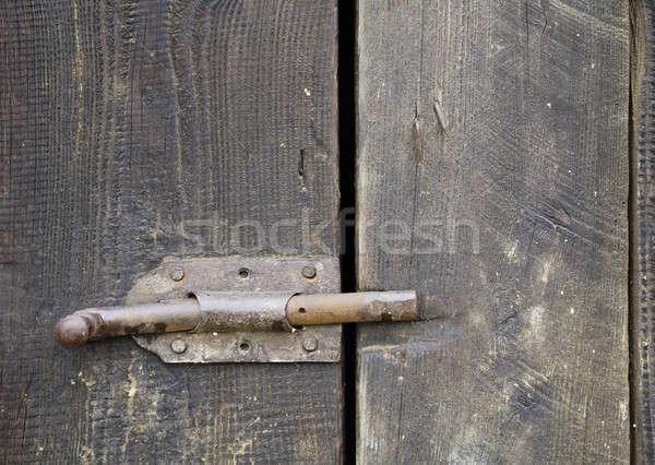 Kapılar eski ahşap ahşap ev arka plan Stok fotoğraf © Ariusz