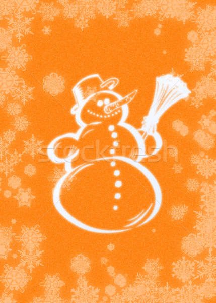 Kardan adam kartpostal arka plan Noel tatil Stok fotoğraf © Ariusz