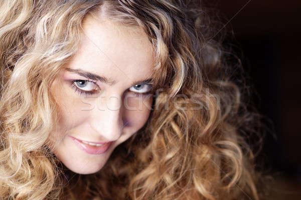 Model 15 portre güzel kadın göz yüz Stok fotoğraf © Ariusz