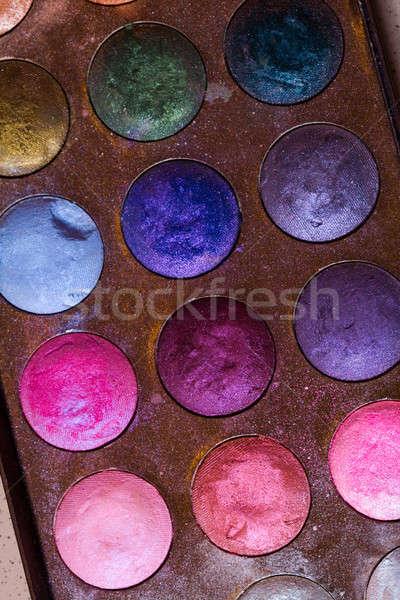 Diferente cosmético ferramentas caixa escove Foto stock © Ariusz