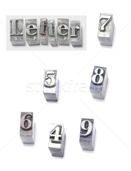 Mektup ayarlamak tip iş ofis kitaplar Stok fotoğraf © Ariusz