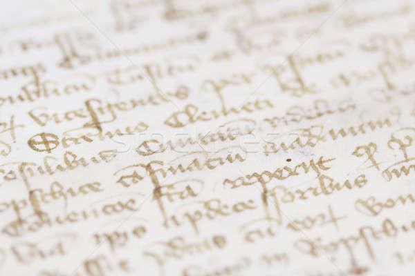 Eski kitap eski el yazması kâğıt kitap okul Stok fotoğraf © Ariusz
