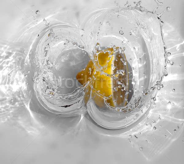 Owoce wody streszczenie owoców tle zielone Zdjęcia stock © Ariusz