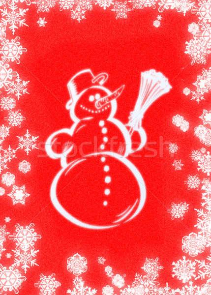 Stok fotoğraf: Kardan · adam · kış · tatil · kar · Noel