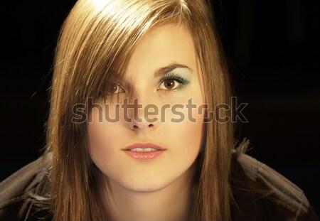 Model portre güzel kadın göz yüz kadın Stok fotoğraf © Ariusz