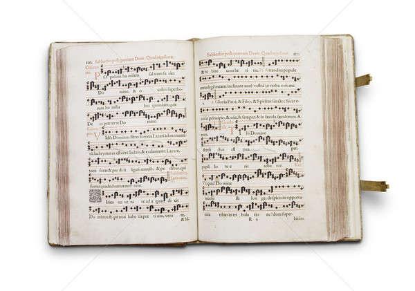 Stok fotoğraf: Eski · kitap · eski · el · yazması · kâğıt · kitap · okul