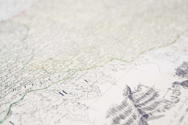 Eski haritası eski el yazması kâğıt kitap okul Stok fotoğraf © Ariusz