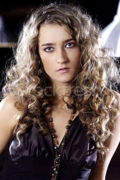 Model 13 portre güzel kadın göz yüz Stok fotoğraf © Ariusz