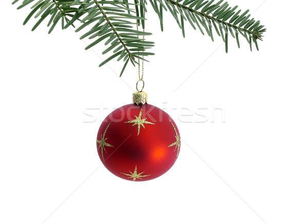 Noel ağaç cam kış hediyeler kutlamak Stok fotoğraf © Ariusz