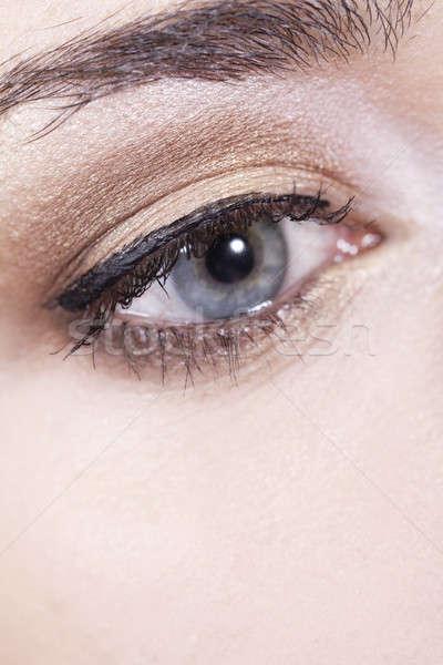 Kadın göz makyaj yüz kadın Stok fotoğraf © Ariusz