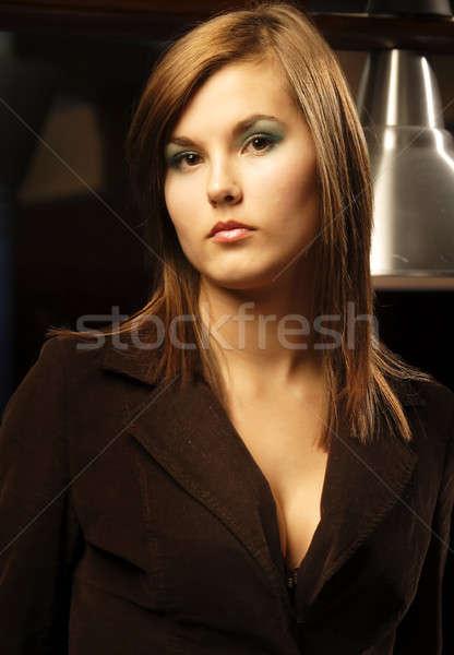 Stok fotoğraf: Model · 24 · portre · güzel · kadın · göz · yüz