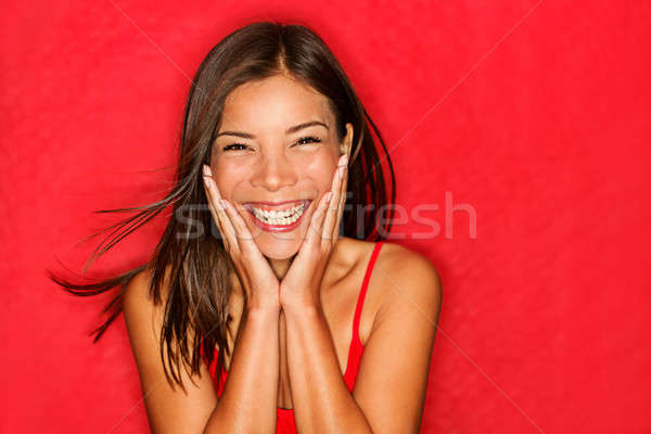 Happy girl excited Stock photo © Ariwasabi