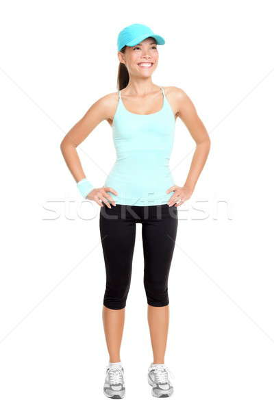 Stock photo: Fitness woman isolated