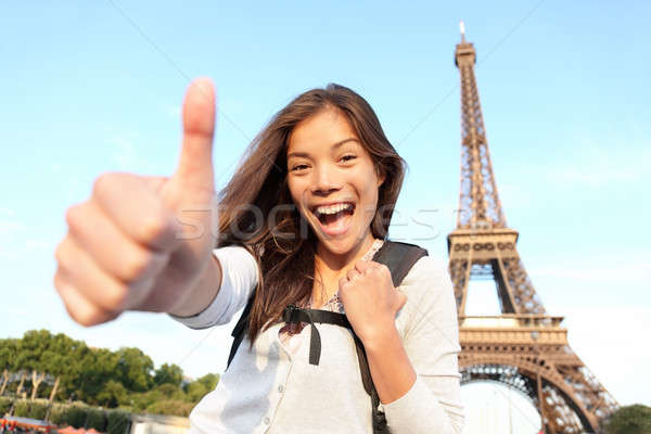 Paris turist happy Stock photo © Ariwasabi