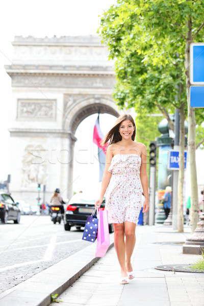 Paris woman shopping Stock photo © Ariwasabi