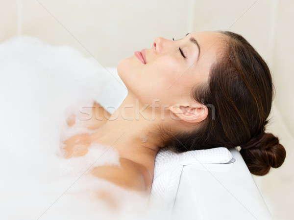 Bath woman relaxing bathing Stock photo © Ariwasabi