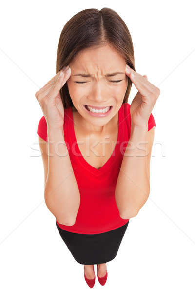 Migraine headache woman suffering Stock photo © Ariwasabi