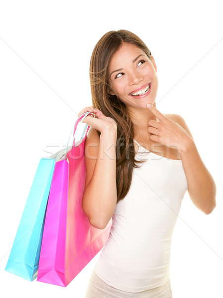 Shopping woman thinking Stock photo © Ariwasabi