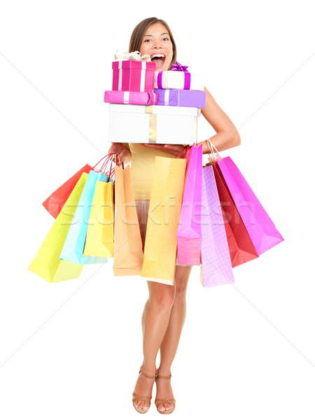 shopaholic shopping woman Stock photo © Ariwasabi