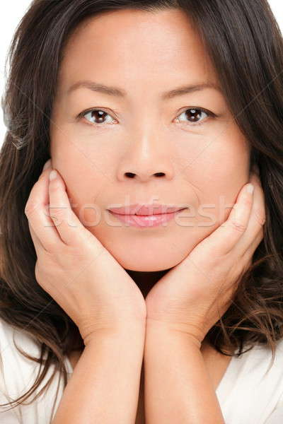 Middle aged asian woman beauty portrait Stock photo © Ariwasabi