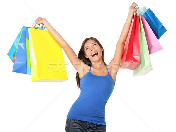 Happy shopping woman Stock photo © Ariwasabi