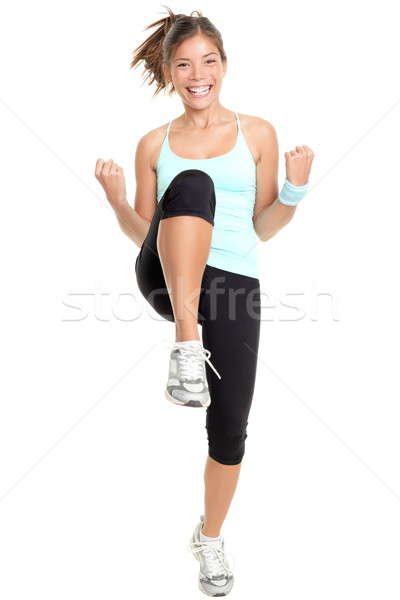 Stock photo: Fitness woman aerobics