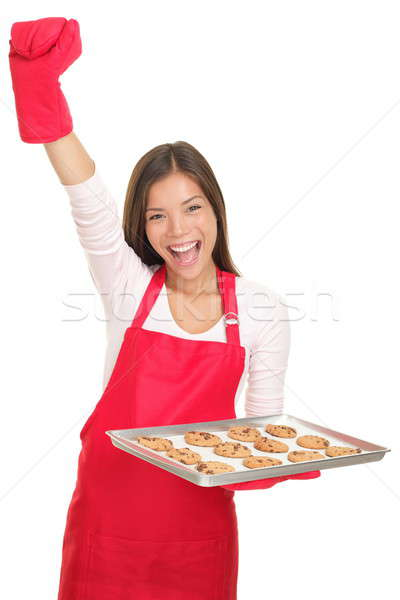 Baking woman on white background Stock photo © Ariwasabi