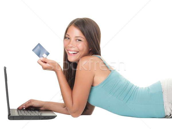 Shopping on internet woman Stock photo © Ariwasabi