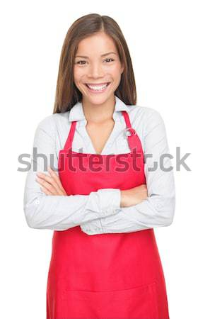 Small shop owner / sales clerk isolated Stock photo © Ariwasabi