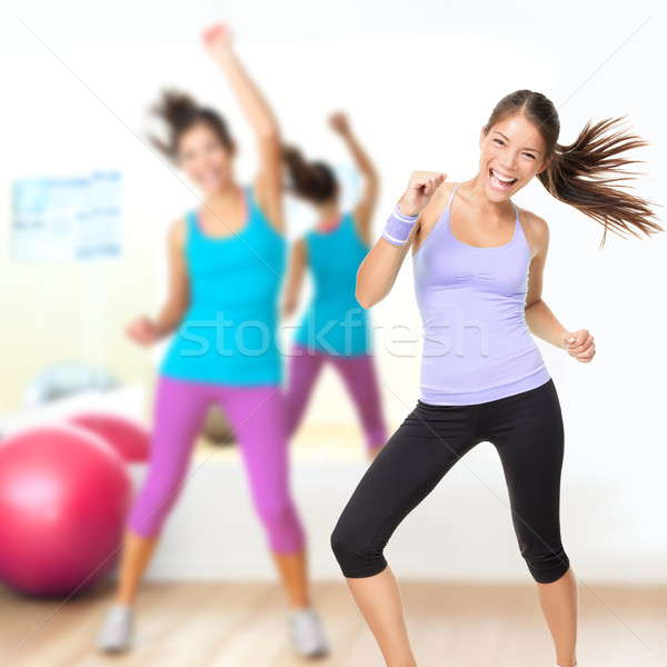 Fitness dance studio zumba class Stock photo © Ariwasabi