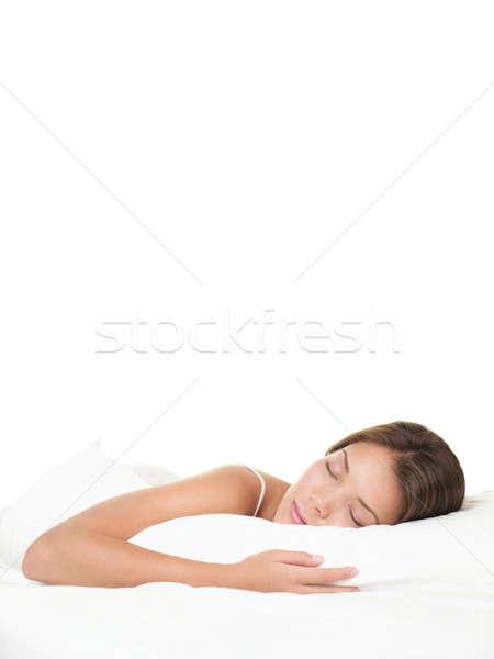 Asian woman sleeping Stock photo © Ariwasabi